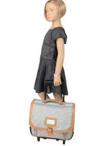 Wheeled Schoolbag 2 Compartments Tann