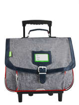 Wheeled Schoolbag 2 Compartments Tann