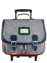 Wheeled Schoolbag 2 Compartments Tann's Gray les chines 43138