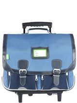 Wheeled Schoolbag 2 Compartments Tann's Black les bicolores 43128