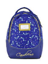 Backpack For Kids 2 Compartments Cameleon Blue retro RET-SD31