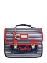 Satchel 1 Compartment Cameleon Blue retro vinyl REV-CA32