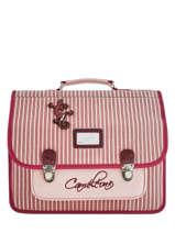 Satchel 2 Compartments Cameleon Pink retro vinyl REV-CA38