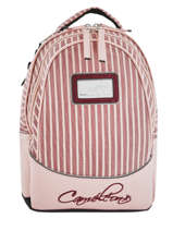 Backpack For Kids 2 Compartments Cameleon Pink retro vinyl REV-SD31