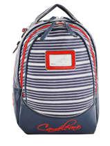 Backpack 2 Compartments Cameleon Blue retro vinyl REV-SD31