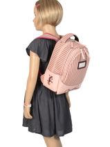 Backpack 2 Compartments Cameleon Pink retro vinyl REV-SD31-vue-porte
