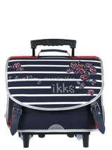 Wheeled Schoolbag 2 Compartments Ikks Black i love my mariniere 42821