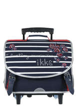Wheeled Schoolbag 2 Compartments Ikks Blue i love my mariniere 42821