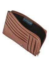 Purse Leather Piquadro Brown black square PU1243B3-vue-porte