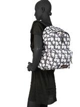 Backpack 1 Compartment Eastpak Black pbg andy warhol PBGK620A-vue-porte