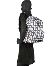 Backpack Padded Andy Eastpak Black pbg andy warhol PBGK620A-vue-porte