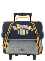 Wheeled Schoolbag 2 Compartments Ikks Black kings 42838