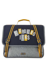 Satchel 2 Compartments Ikks Gray kings 38838