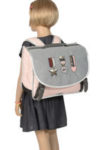 Satchel 2 Compartments Ikks Gray urban lab 38513-vue-porte