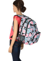Backpack Shadow With Matching Pencil Case Roxy Black back to school RJBP3953-vue-porte