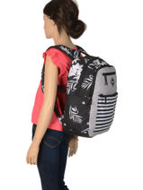 Backpack With Free Pencil Case Roxy Black back to school RJBP3961-vue-porte