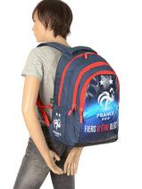 Backpack Federat. france football Multicolor equipe de france 193X204I-vue-porte
