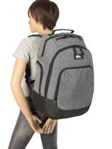Backpack With Free Pencil Case Quiksilver Gray youth access QYBP3556-vue-porte