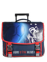 Cartable à Roulettes Federat. france football Multicolore equipe de france 193X203R