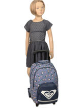 Wheeled Backpack Roxy Black kids RLBP3039-vue-porte