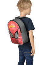 Sac à Dos Mini Spiderman Rouge mask SPINI03-vue-porte