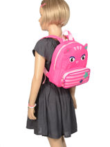 Backpack Mini Animal Pink kids KIDNI00-vue-porte