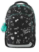 Backpack 2 Compartments + 15'' Pc Kipling Black back to school I4053