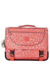 Satchel 2 Compartments Kipling Pink back to school 12074