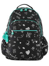 Backpack 1 Compartment + 15'' Pc Kipling Black back to school 21316