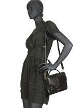 Satchel Klassic Quilted Leather Karl lagerfeld Black klassic quilted 96KW3024-vue-porte