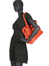 Shoulder Bag Dewashed Leather Milano Orange dewashed DE17115-vue-porte