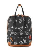Backpack Mini Kidzroom Black black and white 30-8975