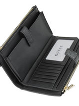 Portefeuille Guess Noir peony shine SG739957-vue-porte