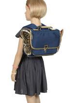Mini Schoolbag Wings Caramel et cie Black mini MINICARG-vue-porte