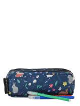 Pencil Case 2 Compartments Caramel et cie Blue belle rentree fille TDBL-F-vue-porte