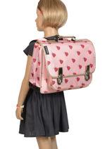 Satchel Caramel et cie Pink fille CART-MMF-vue-porte