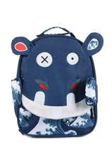 Backpack Globe Trotoys Les deglingos Black globe trotoys 310