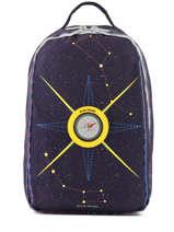 Backpack James 2 Compartments Jeune premier Blue canvas JA019