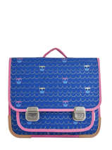 Schoolbag 2 Compartments Jack piers Blue amsterdam PAL19