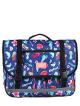 Cartable 2 Compartiments Rip curl Bleu summer time LBPQG4