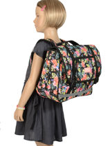 Satchel 2 Compartments Rip curl Black toucan flora LBPQF4-vue-porte