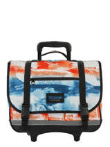 Schoolbag On Wheels 2 Compartments Rip curl Red photo script BBPNN4