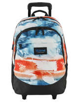 Backpack On Wheels 2 Compartments Rip curl Red photo script BBPNO4