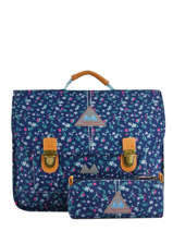 Schoolbag 2 Compartments With Matching Pencil Case Poids plume Blue liberty LIB1938