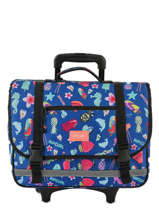 Wheeled Schoolbag 2 Compartments Rip curl Blue summer time LBPQB4
