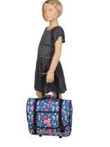 Wheeled Schoolbag 2 Compartments Rip curl Blue summer time LBPQB4-vue-porte