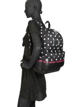 Sac à Dos 1 Compartiment Superdry Noir backpack woomen G91903JT-vue-porte