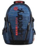 "Sac à Dos Knip Tarp 2 Compartiments + Pc15"" Superdry Bleu backpack men M91800JU"