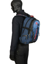 "Backpack Knip Tarp 2 Compartments + Pc15"" Superdry Blue backpack men M91800JU-vue-porte"