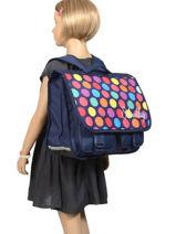 Cartable 2 Compartiments Miniprix Bleu school 16302P-vue-porte